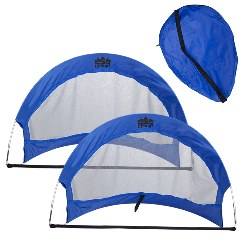 Set of 2, 4' Pop Up Soccer Goals with 2 Carrying Bags