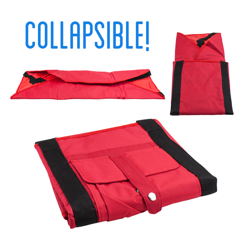 Red Yoga Mat Cargo Carrier with Adjustable Straps