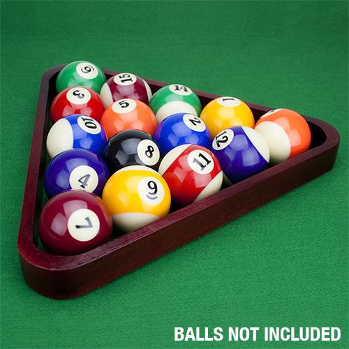 Wooden Pool Table Ball Triangle, Mahogany