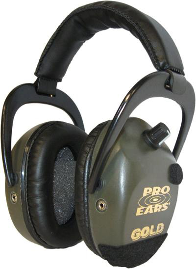 Altus Pro Ears Stalker Gold NRR 25: Electronic Ear Muffs, Green