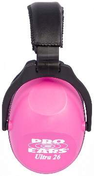 Altus Pro Ears Revo 26 Youth: Passive Ear Muffs, Neon Pink