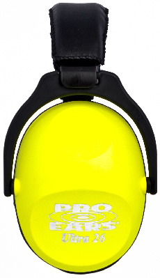 Altus Pro Ears Revo 26 Youth: Passive Ear Muffs, Neon Yellow