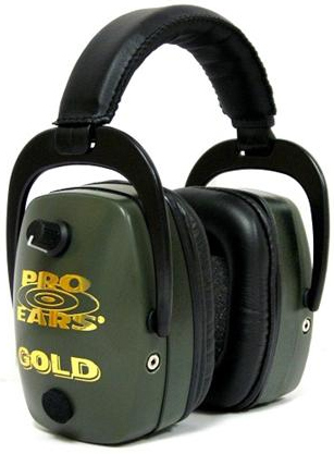 Altus Pro Ears Pro Mag Gold NRR 33: Electronic Ear Muffs, Green