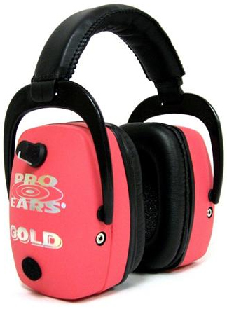 Altus Pro Ears Pro Mag Gold NRR 33: Electronic Ear Muffs, Pink