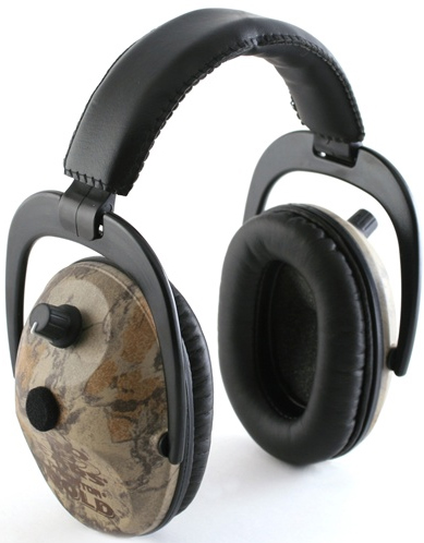 Altus Pro Ears Predator Gold NRR 26: Electronic Ear Muffs, Realtree Advantage Max 4 Camo