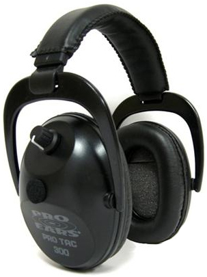 Altus Pro Ears Pro Tac Plus Gold NRR 26: Electronic Ear Muffs, Black, Behind the Head