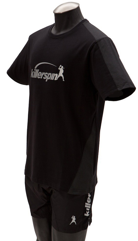 Killerspin Grate Shirt: Black/Grey, Small