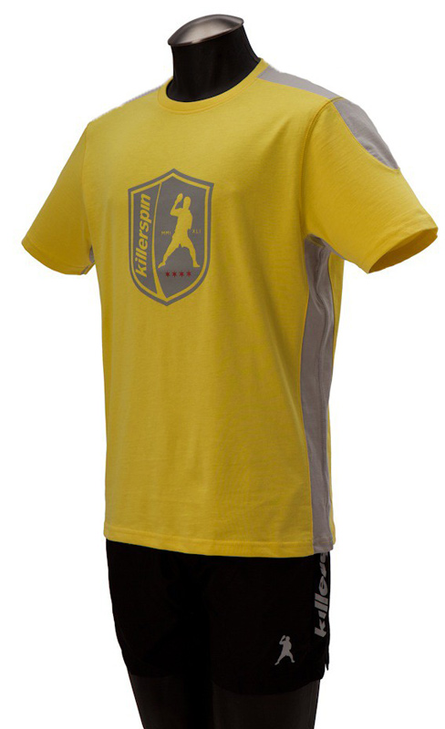 Killerspin The Steel Shield Shirt: Yellow/Grey, Extra Large