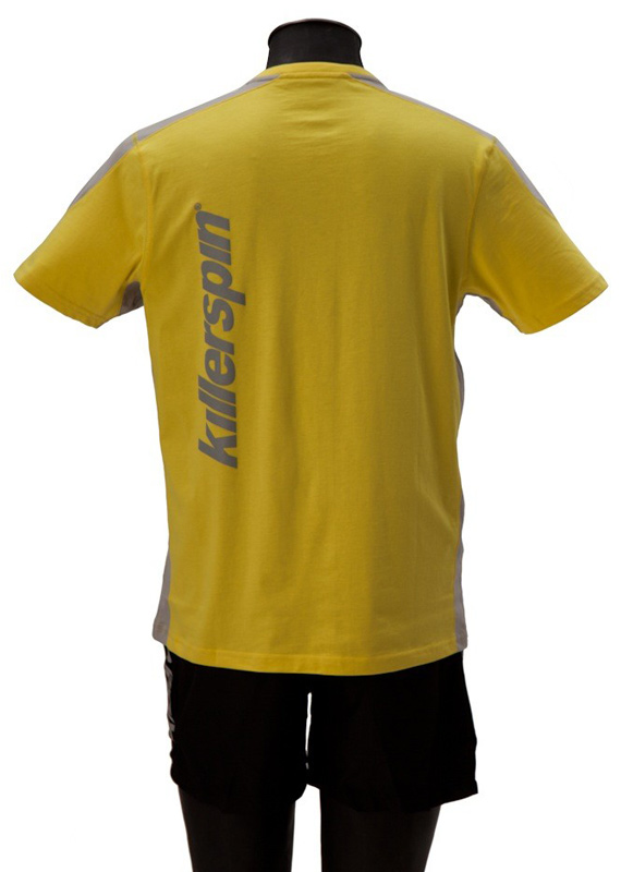 Killerspin The Steel Shield Shirt: Yellow/Grey, Large