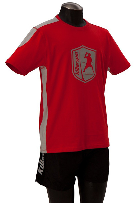 Killerspin The Steel Shield Shirt: Red/Grey, Large