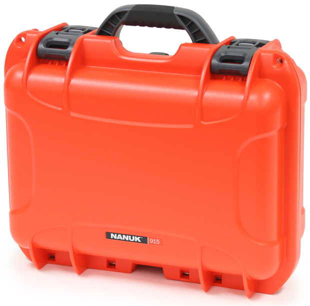 Plasticase Nanuk 915 Case with Cubed Foam: Orange