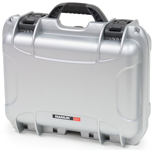 Plasticase Nanuk 915 Case with Padded Divider: Silver