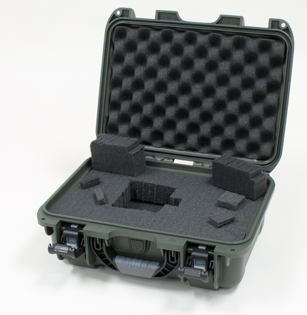 Plasticase Nanuk 915 Case with Cubed Foam: Olive