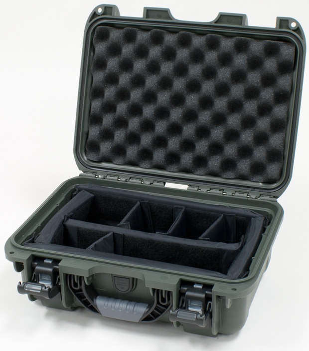 Plasticase Nanuk 915 Case with Padded Divider: Olive