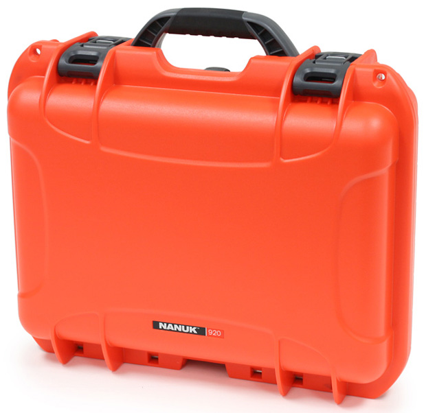 Plasticase Nanuk 920 Case with Padded Divider: Orange