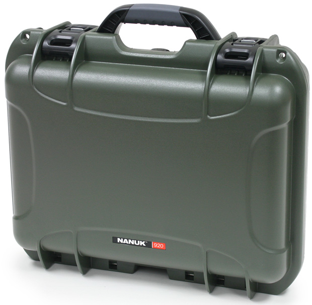 Plasticase Nanuk 920 Case with Shoulder Strap: Olive