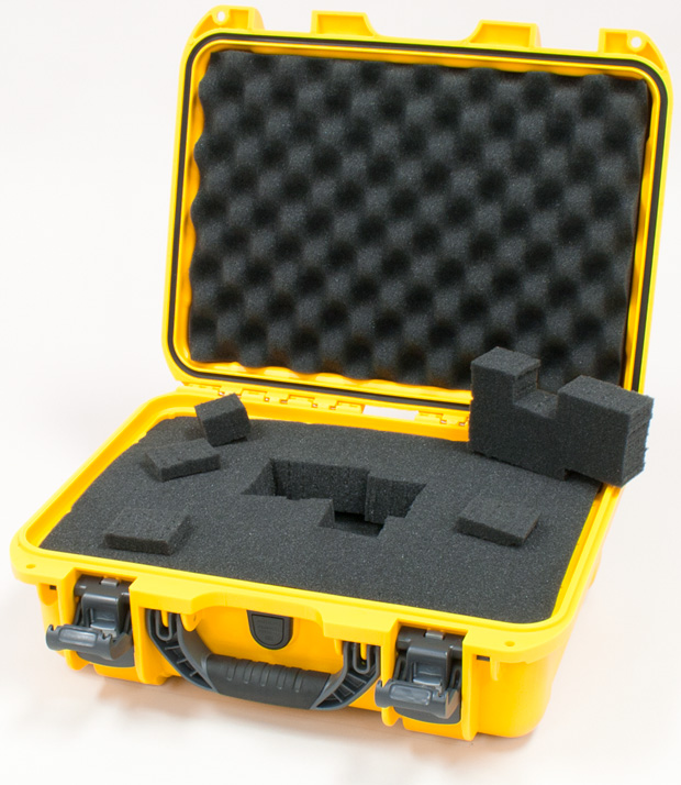 Plasticase Nanuk 920 Case with Cubed Foam: Yellow