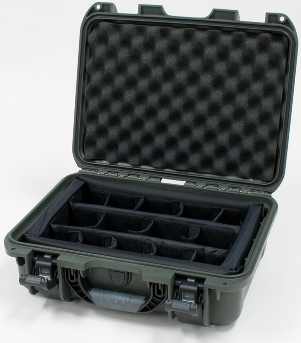 Plasticase Nanuk 920 Case with Padded Divider: Olive