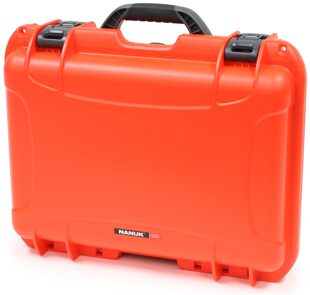 Plasticase Nanuk 925 Case with Padded Divider: Orange