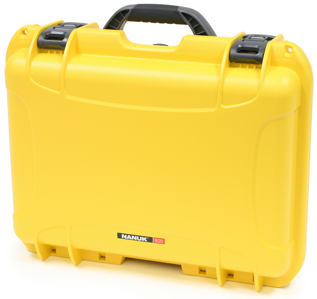 Plasticase Nanuk 925 Case with Cubed Foam: Yellow