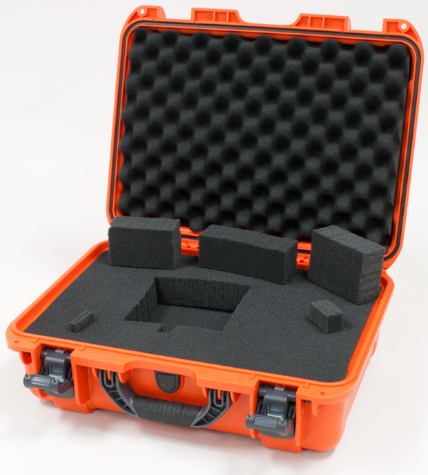 Plasticase Nanuk 925 Case with Cubed Foam: Orange