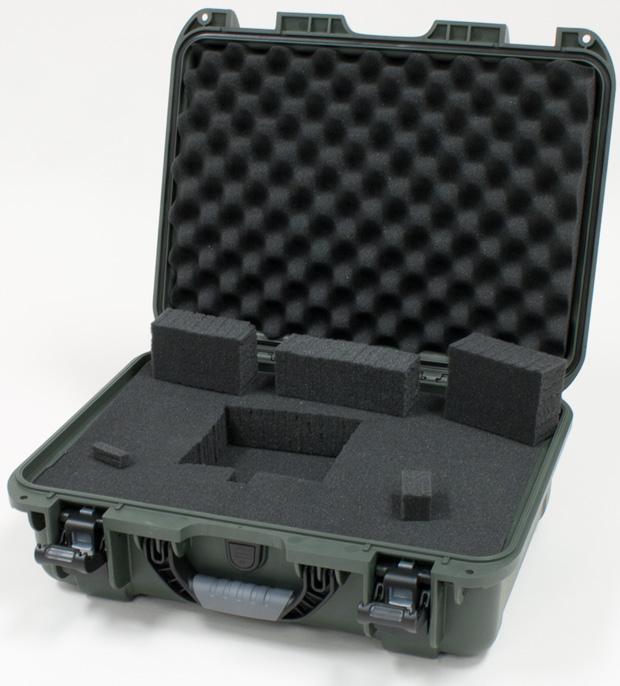 Plasticase Nanuk 925 Case with Cubed Foam: Olive