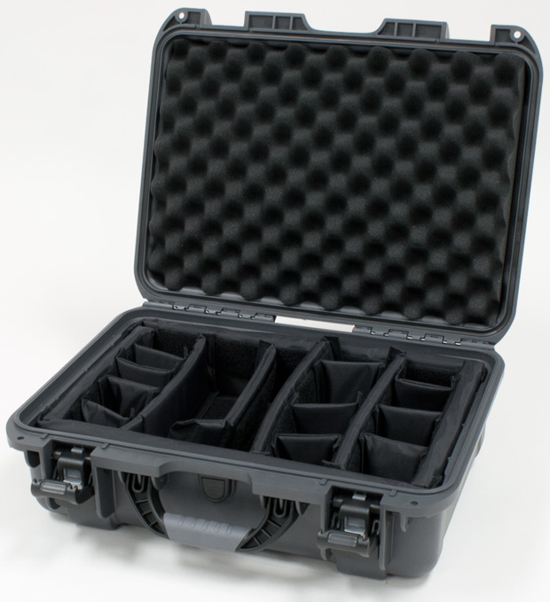 Plasticase Nanuk 925 Case with Padded Divider: Graphite