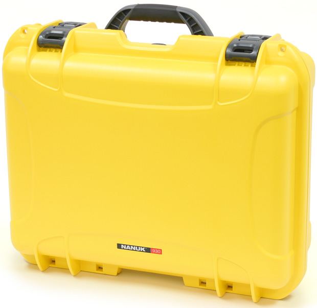 Plasticase Nanuk 930 Case with Cubed Foam: Yellow