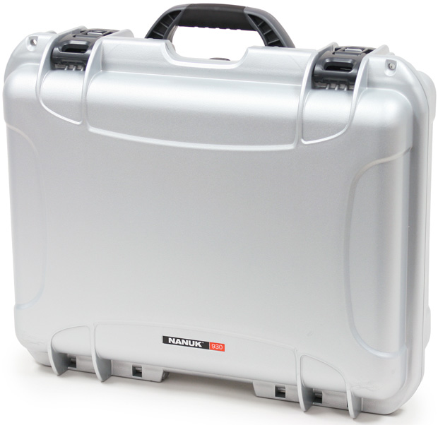 Plasticase Nanuk 930 Case with Cubed Foam: Silver