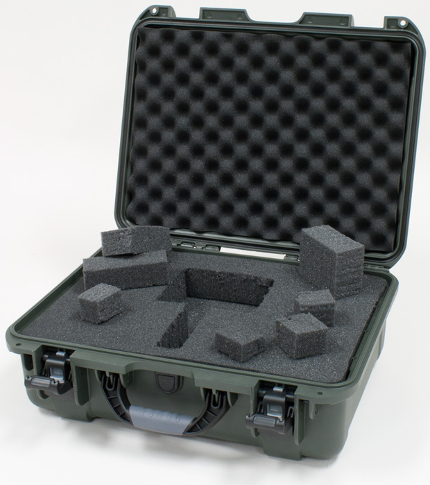 Plasticase Nanuk 930 Case with Cubed Foam: Olive
