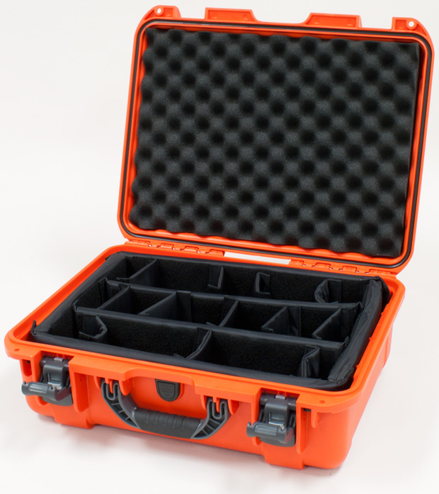 Plasticase Nanuk 930 Case with Padded Divider: Orange
