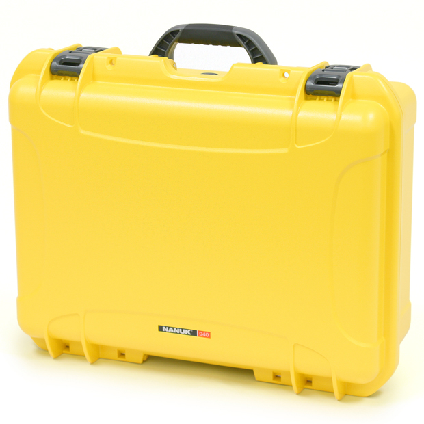 Plasticase Nanuk 940 Case with Padded Divider: Yellow