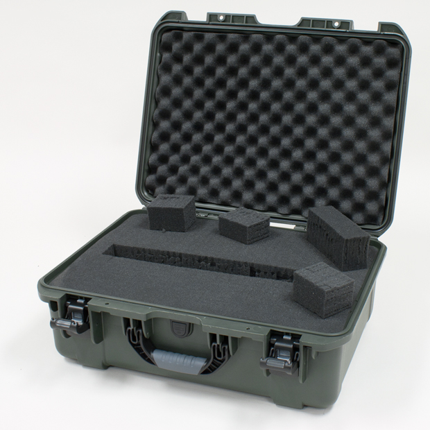 Plasticase Nanuk 940 Case with Cubed Foam: Olive