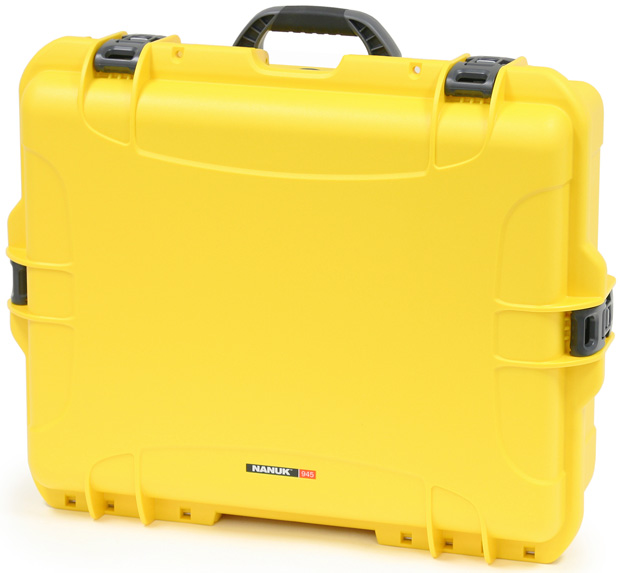 Plasticase Nanuk 945 Case with Padded Divider: Yellow
