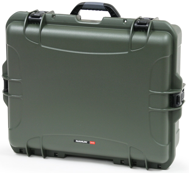Plasticase Nanuk 945 Case with Cubed Foam: Olive
