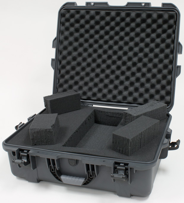 Plasticase Nanuk 945 Case with Cubed Foam: Graphite