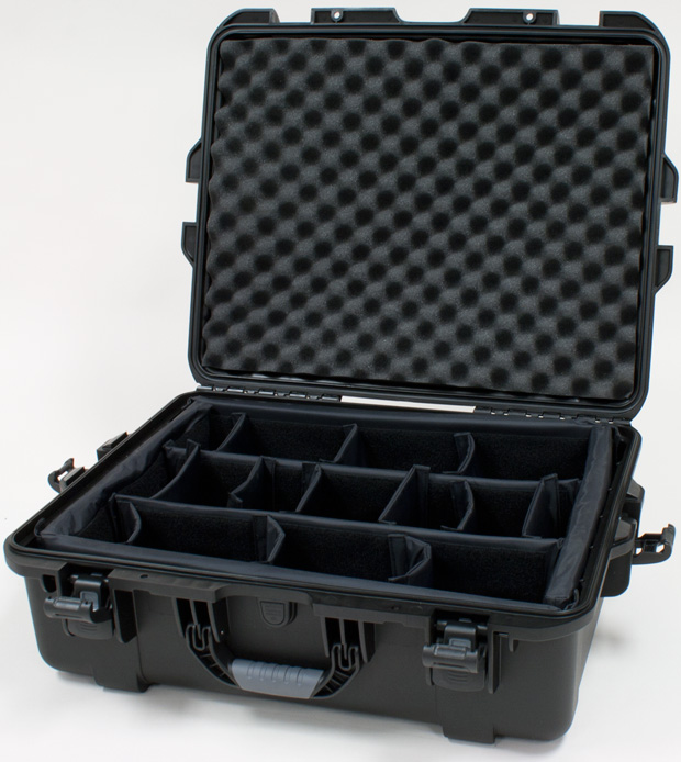 Plasticase Nanuk 945 Case with Padded Divider: Black