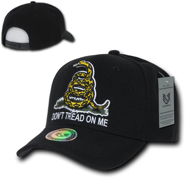 Rapid Dominance A02 Don't Tread On Me Caps: Black