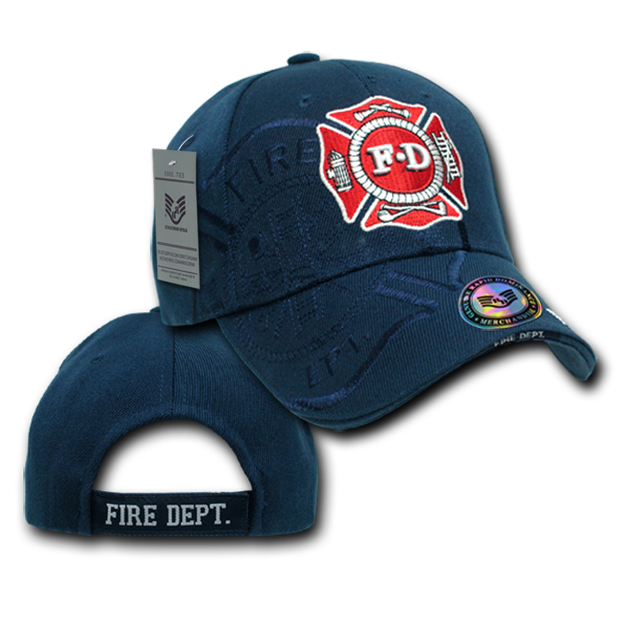 Rapid Dominance JW7 Shadow Law Enforcement Caps: Navy, Fire Department