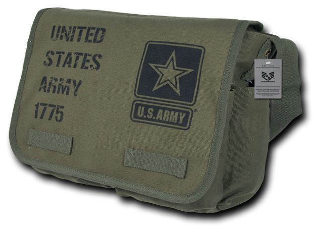 Rapid Dominance Classic US Army Messenger Bag Pack: Olive