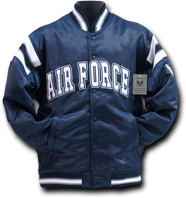 Rapid Dominance R12 Satin Military Coach's Jacket: Navy, Air Force