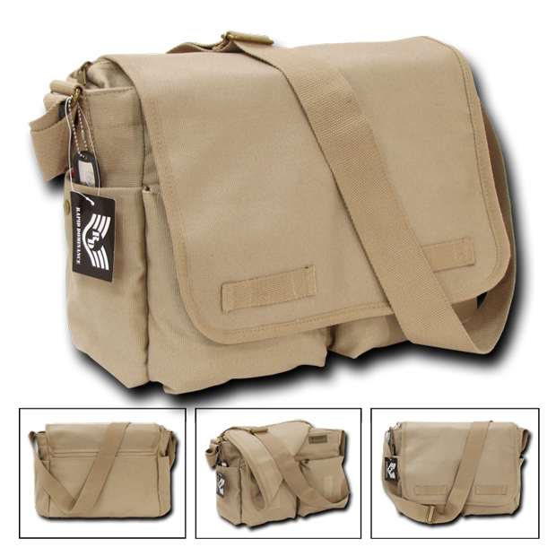 Rapid Dominance R31 Classic Military Messenger Bags: Khaki