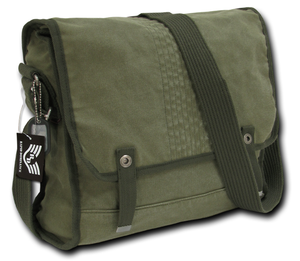 Rapid Dominance R33 Vintage Military Messenger Bags: Olive