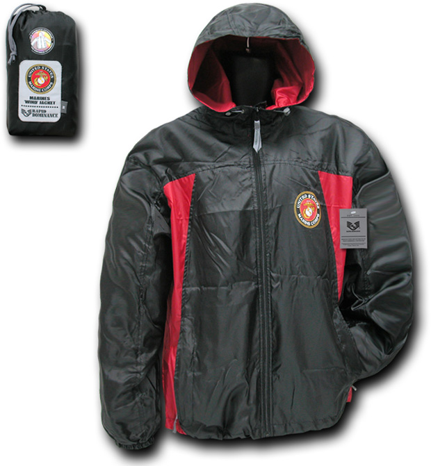 Rapid Dominance R36 2 Tone Military Windbreaker: Black, Marines