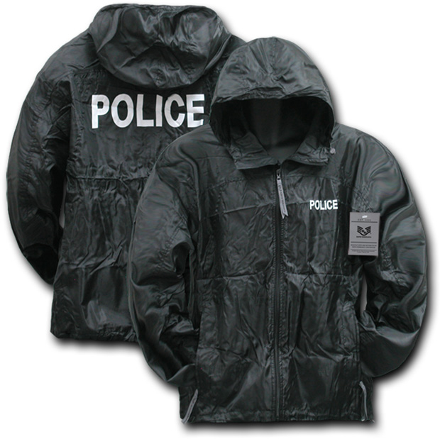 Rapid Dominance R37 Solid Military/ Law Windbreaker: Black, Police