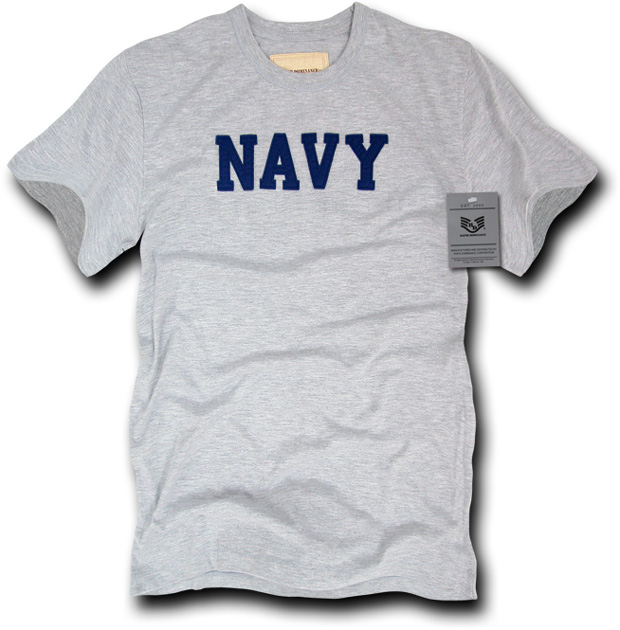 Rapid Dominance R54 Felt Applique Military T-Shirts: Heather Grey, Navy