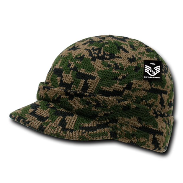 Rapid Dominance R604 Camouflage Jeep Caps/Visor Beanies: Woodland Digital
