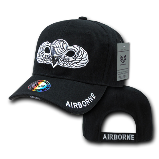 Rapid Dominance S001 The Legend Military Branch Cap: Black, Air Borne