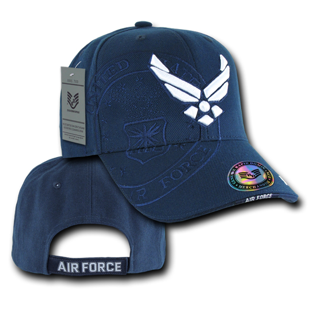 Rapid Dominance S007 Shadow Military Baseball Caps: Navy, Air Force Wing