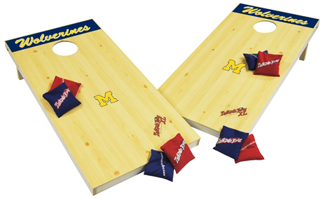 Wild Sports University of Michigan Wolverines Tailgate Toss XL Platinum Edition